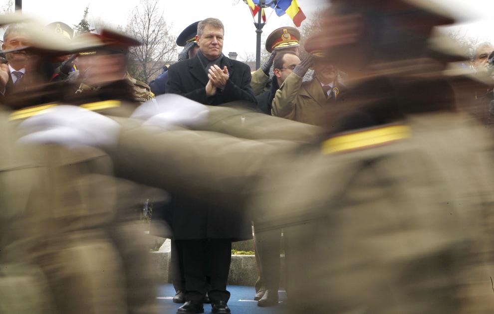 Preşedintele ales Klaus Iohannis participă la manifestările prilejuite de Ziua Naţională a României, în Alba Iulia, luni, 1 decembrie 2014.