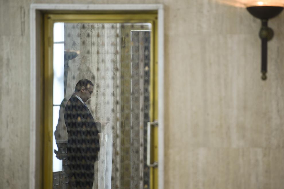 Premierul Victor Ponta îl aşteaptă pe preşedintele Republicii Bulgaria, Rosen Plevneliev, la sediul Guvernului, în Bucureşti, vineri, 20 februarie 2015.
