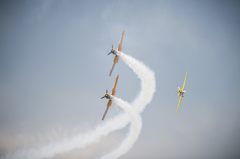 Avioane ale Aeroclubului României pot fi văzute în timpul spectacolului aviatic de la 'Bucharest International Air Show & General Aviation Exibition 2015 - BIAS 2015', organizat la Aeroportul Internaţional Bucureşti Băneasa 'Aurel Vlaicu', în Bucureşti, sâmbătă, 20 iunie 2015.