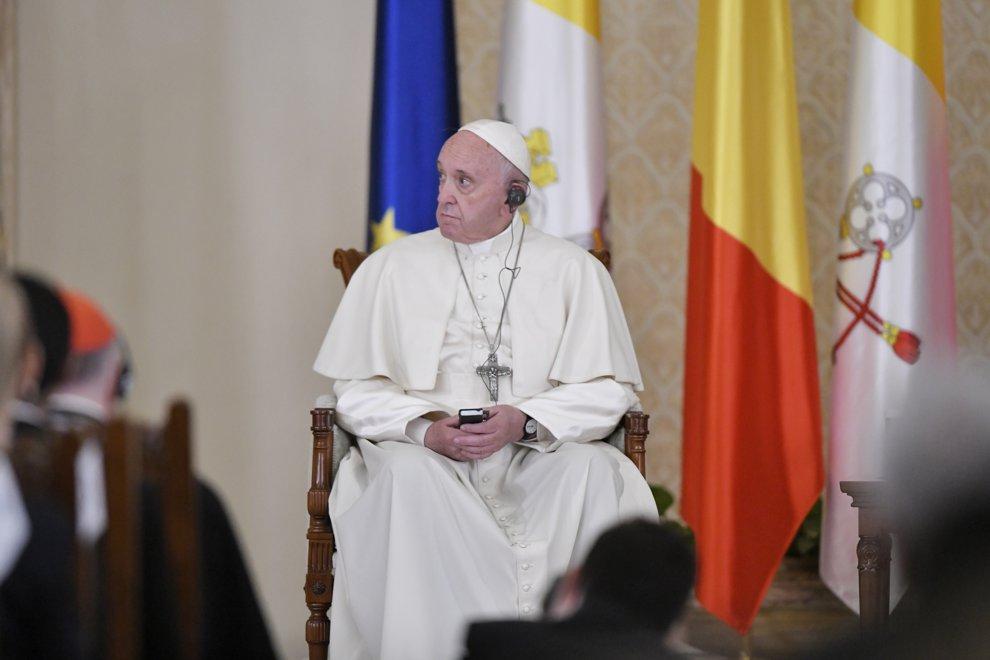 Papa Francisc participa la o intalnire cu Autoritatile Statului, reprezentantii Societatii Civile si Corpul Diplomatic, la Palatul Cotroceni, vineri 31 mai 2019. ANDREEA ALEXANDRU / MEDDIAFAX FOTO