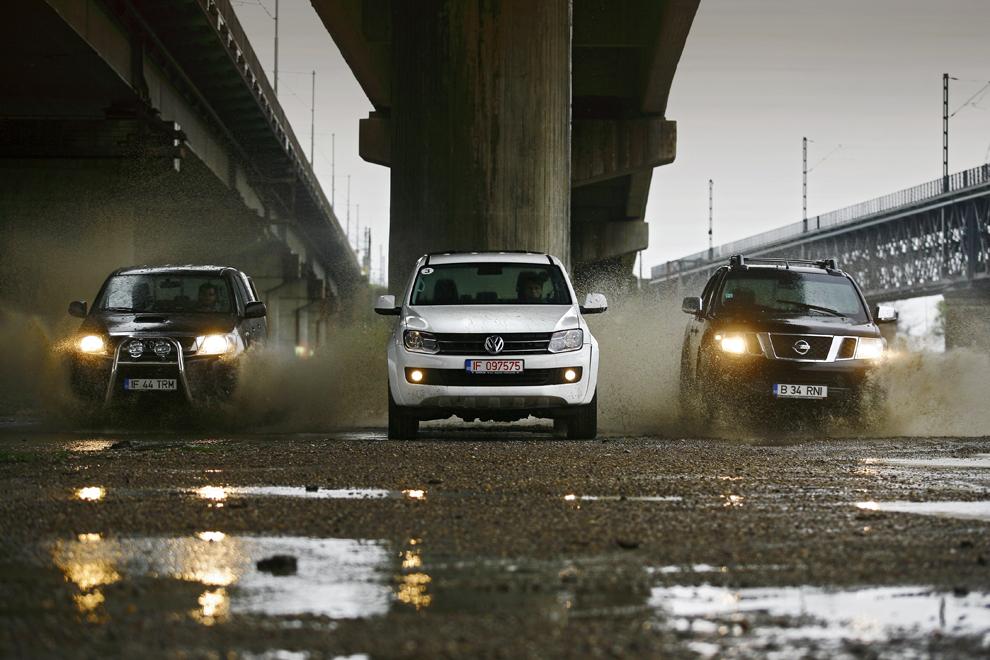 Toyota Hilux, Volkswagen Amarock, Nissan Navara