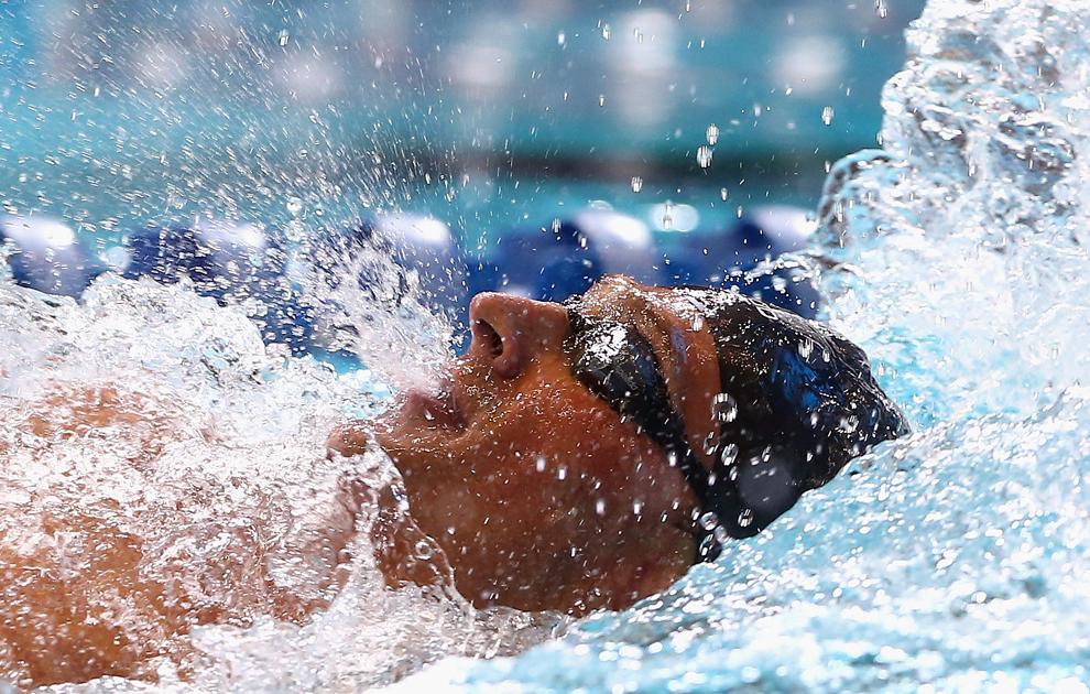 Ryan Lochte concurează în finala de 200 de metri, în ziua a cincea a Campionatului Naţional de Înot USA Phillips 66 şi World Trials, în complexul de Nataţie al Universităţii Indiana, din Indianapolis, Indiana, SUA, sâmbătă, 29 iunie  2013.