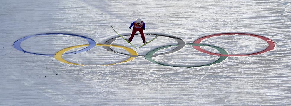 Magnus Krog, Norvegia, concurează în proba masculină de combinată nordică, din cadrul Jocurilor Olimpice de Iarnă, în Rosa Hutor, Rusia, miercuri, 12 februarie 2014.