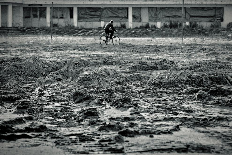 Tudor Vladimirescu, urme ale inundaţiei.