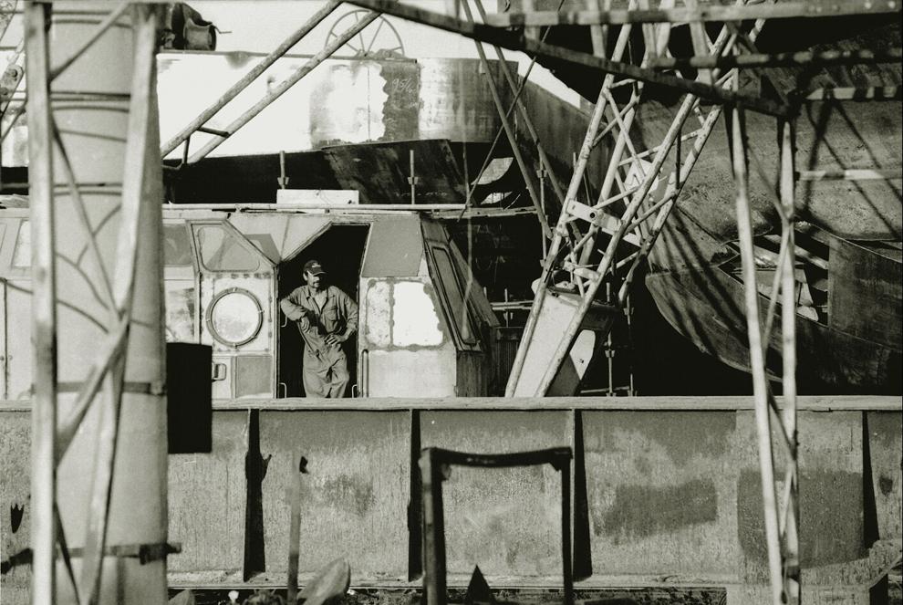 Sulina, şantierul de reparaţii, peisaj industrial.