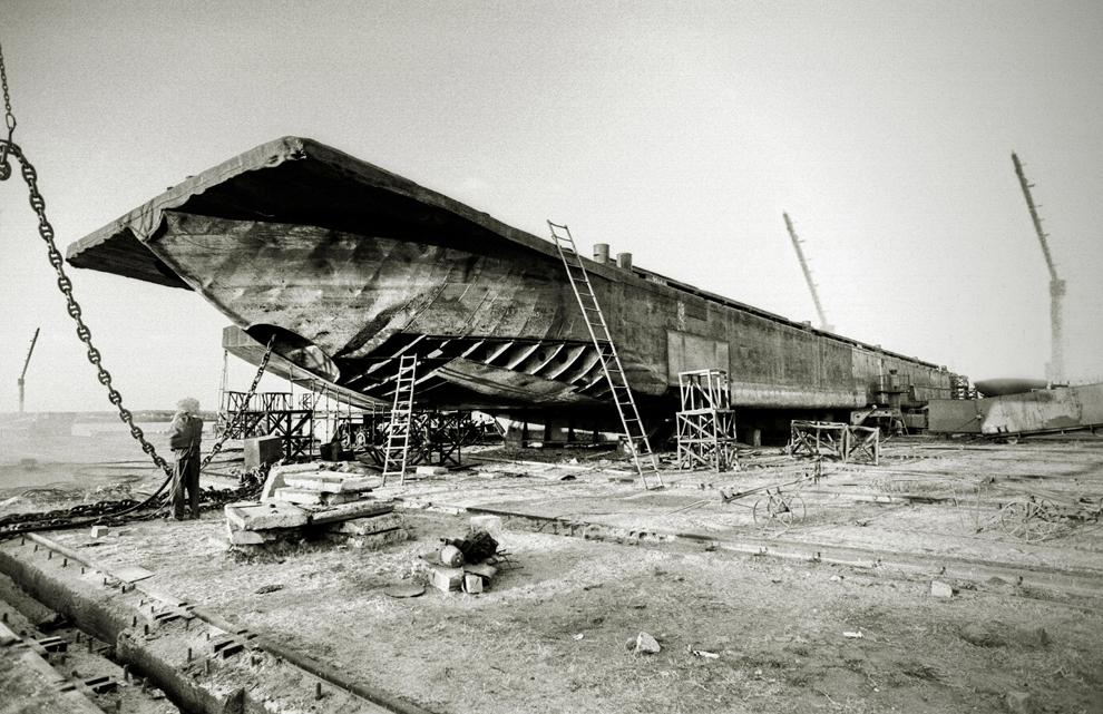 Sulina, şantierul de reparaţii, panoramă de ansamblu.
