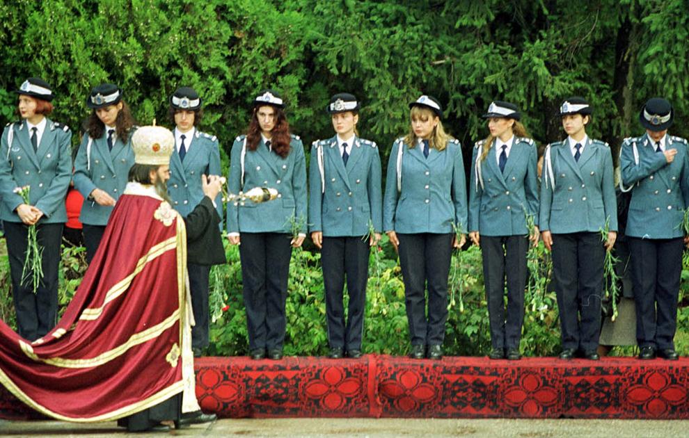 Depunerea jurământului de către studenţii anului I al Academiei de Poliţie Alexandru Ioan Cuza din Bucureşti.