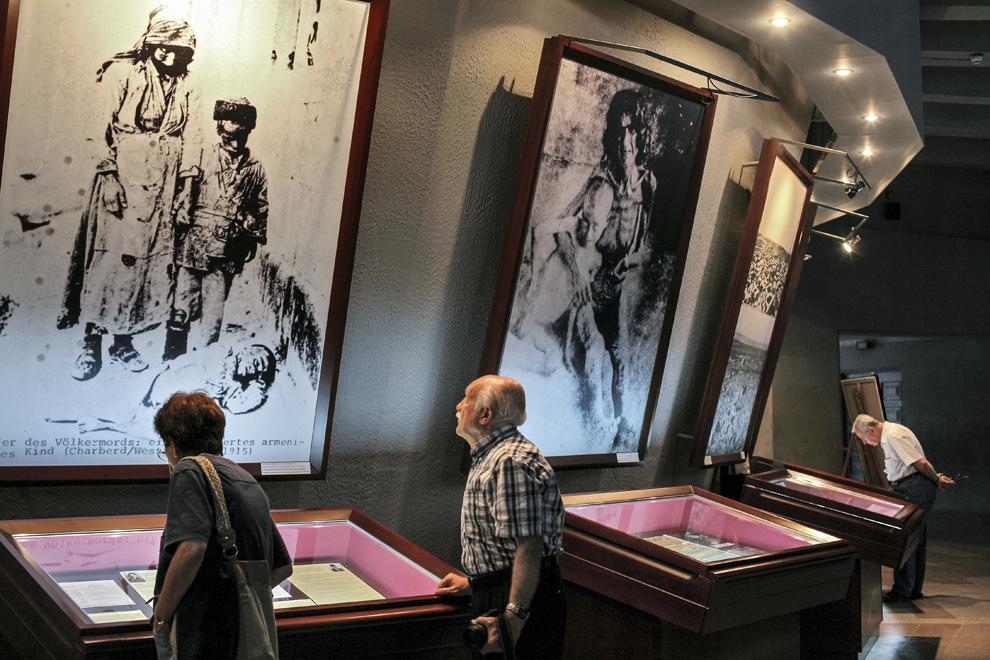 Muzeul Genocidului Armean din Erevan, Armenia.