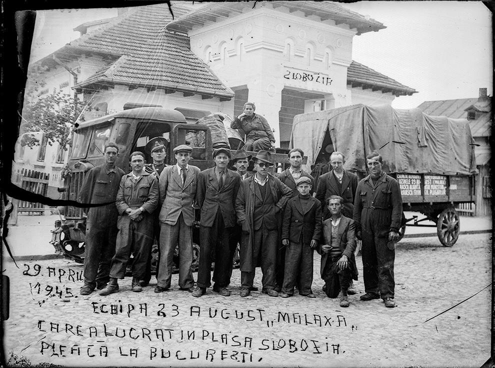Echipa 23 August Malaxa, 29 aprilie 1945.