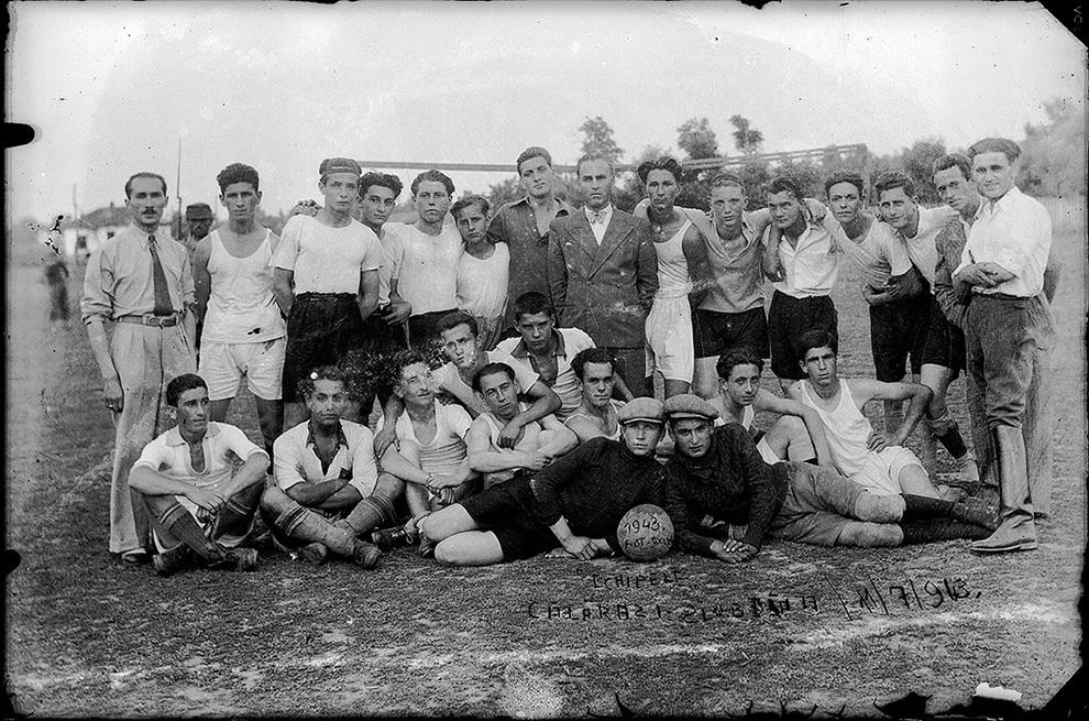 Echipele de fotbal Slobozia şi Călăraşi, 11 iulie 1943.