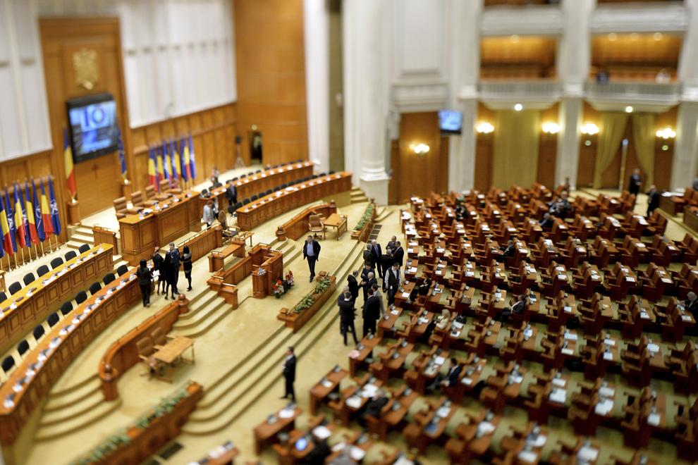 Imagine din Parlamentul României, marţi, 1 aprilie 2014.