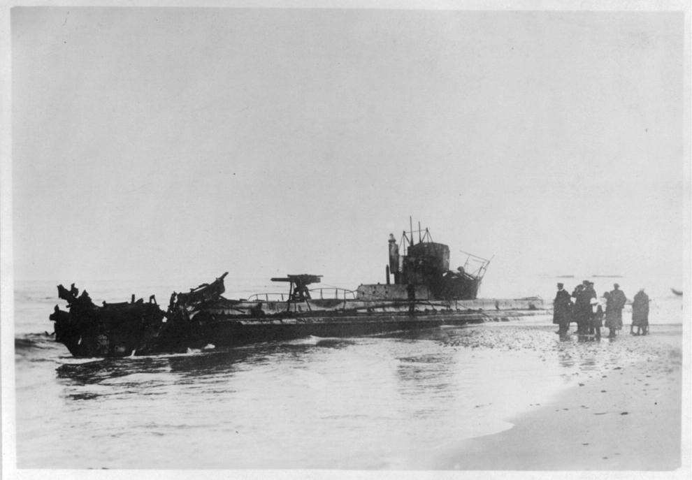 Submarinul german U20, pe coasta daneză, declarat a fi cel care a scufundat vasul Lusitania.