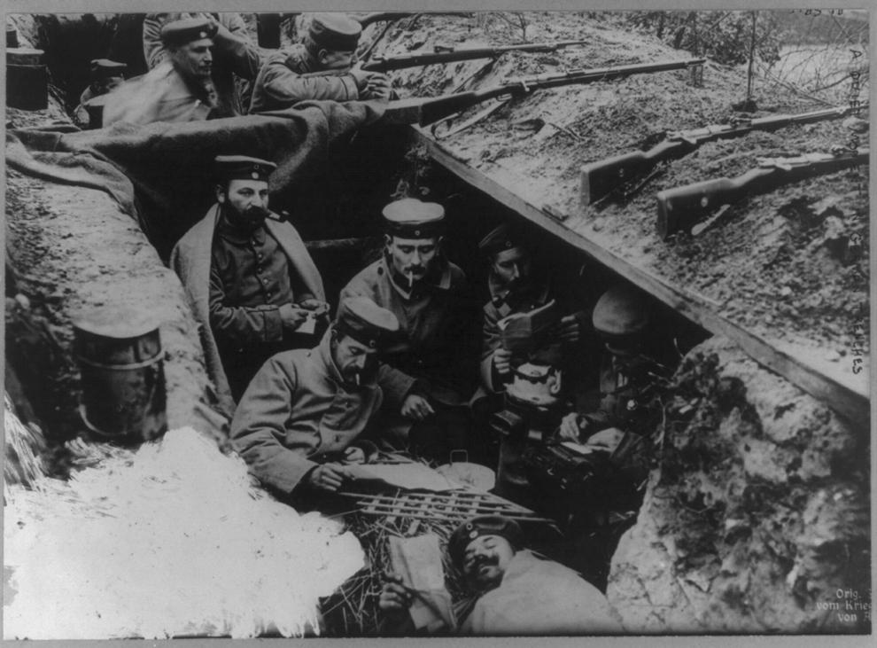 Moment de linişte în tranşeele germane, 16 iunie 1916.