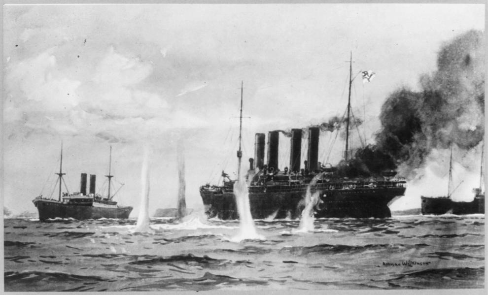 Bătălie navală din Primul Război Mondial,26 august 1914.