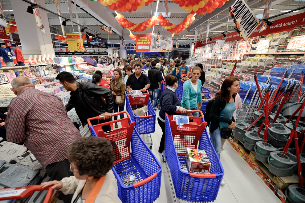 Hypermarket Carrefour, Bucureşti, 2014.