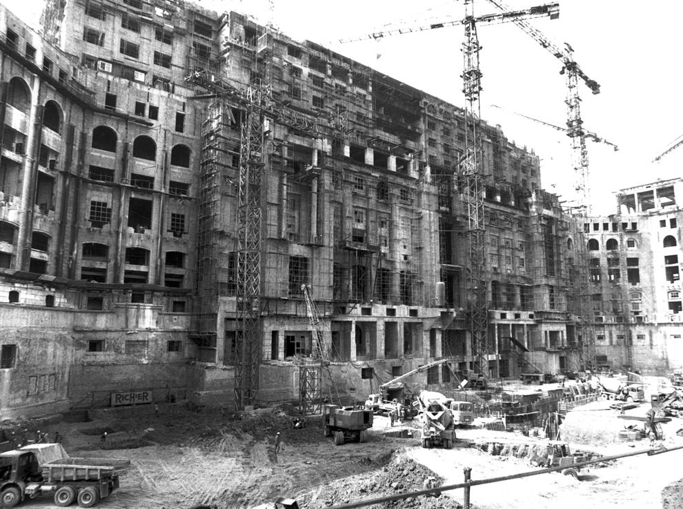 Şantierul Casei Poporului, Bucureşti, 1987.