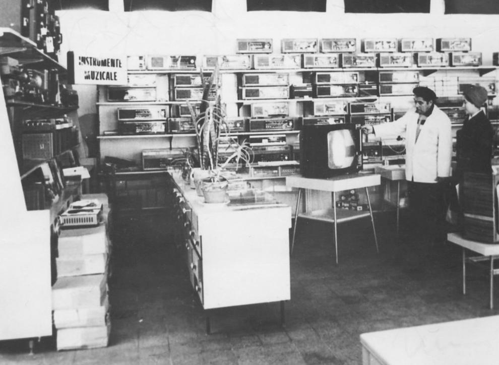 Magazin produse electronice, 1970.