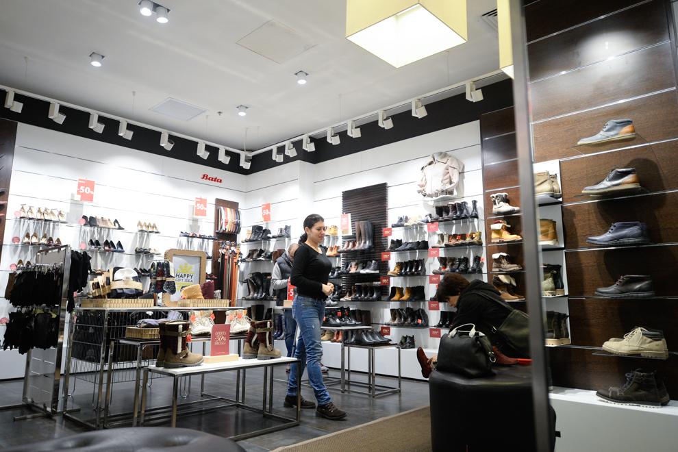 Magazinul Bata din cadrul Bucureşti Mall, 2014.