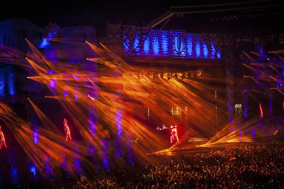 Avicii mixeaza in cadrul festivalului Untold, pe Cluj Arena, vineri, 31 iulie 2015.
