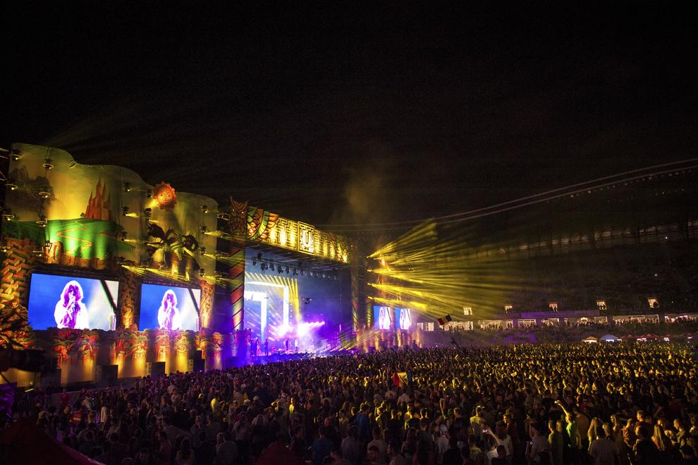 Trupa Subcarpati sustine un concert in cadrul festivalului Untold, pe Cluj Arena, vineri, 31 iulie 2015.
