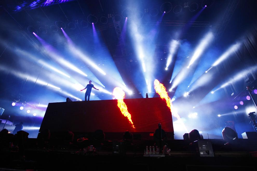 Dimitri Vegas & Like Mike sustine un concert in prima zi a festivalului Untold, pe stadionul Cluj Arena, in Cluj-Napoca, joi, 30 iulie 2015.