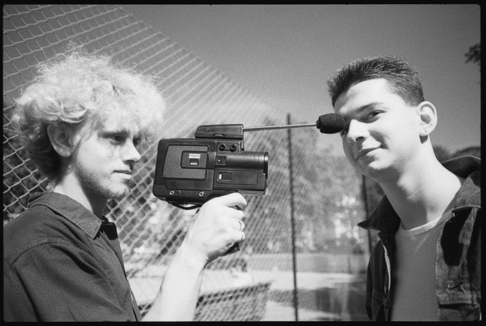 "Martin Gore şi Dave Gahan de la Depeche Mode la ""Shepherd's Bush"", Londra, UK septembrie 1982."