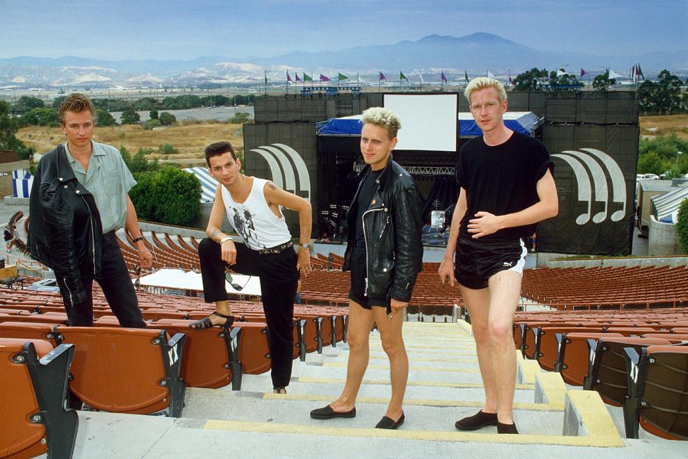 Trupa britanică Depeche Mode înaintea unui concert, în data de 31 octombrie 1986.
