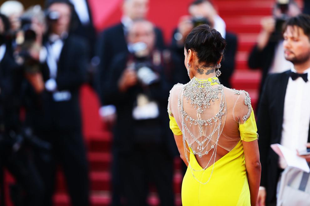 Selita Banks soseşte la proiecţia filmului 'Blood Ties', în timpul celei de-a 66-a ediţii a Festivalului de Film de la Cannes, la Teatrul Mare Lumier din Cannes, luni, 20 mai 2013.