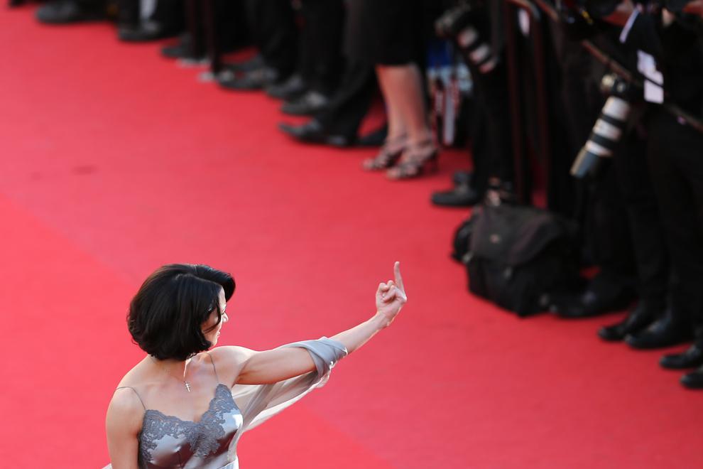 Actriţa Asia Argento participă la premiera filmului 'Zulu' şi la ceremonia de incheiere a celei de-a 66-a ediţii a Festivalului de Film de la Cannes, la Palatul Festivalurilor din Cannes, duminică, 26 mai 2013.