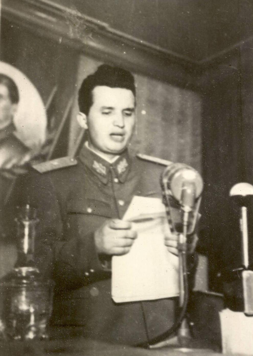 9 mai 1950. Cuvântarea lui Nicolae Ceauşescu cu prilejul sărbătoririi Zilei Victoriei şi Independenţei Naţionale. (Ateneul R.P.R.) (1950).