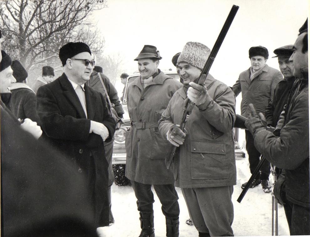 Vanatoare cu sefii misiunilor diplomatice 25 ianuarie 1969.
