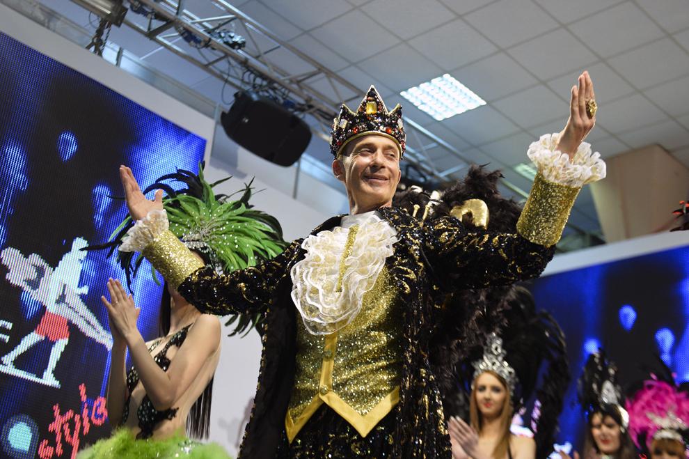Primarul oraşului Constanţa, Radu Mazăre, participă la Târgul de Turism al României, ediţia de primăvară, la pavilionul expoziţional Romexpo din Bucureşti, joi, 13 martie 2014.