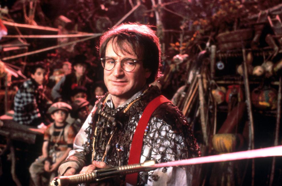 """Imagine de pe platoul de filmare al filmului """"Hook"""", 1991."""