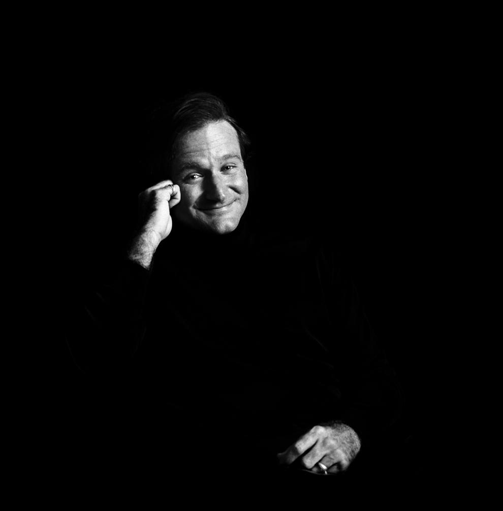 Robin Williams pozează pentru un portret, 3 februarie 2006.