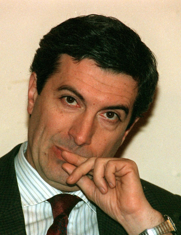 Preşedintele PNL, Călin Popescu Tăriceanu, în Bucureşti, 19 noiembrie 1991.