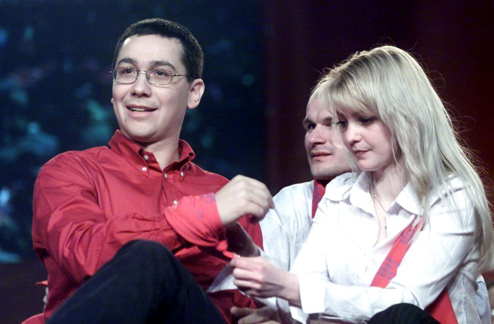 """Victor Ponta participă la evenimentul """"Primăvara Social Democrată"""", organizat de Tineretul Social Democrat, în Bucureşti, 27 martie 2004."""