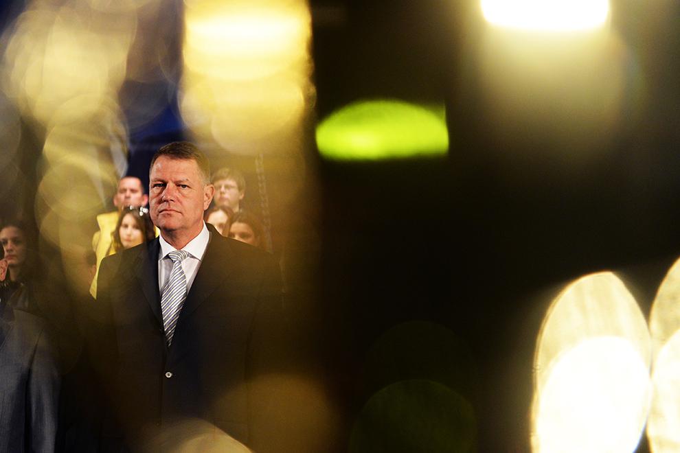 Prim-vicepreşedintele PNL Klaus Iohannis participa la lansarea candidaţilor PNL în Regiunea Centru pentru alegerile europarlamentare, la Sibiu, vineri, 4 aprilie 2014.