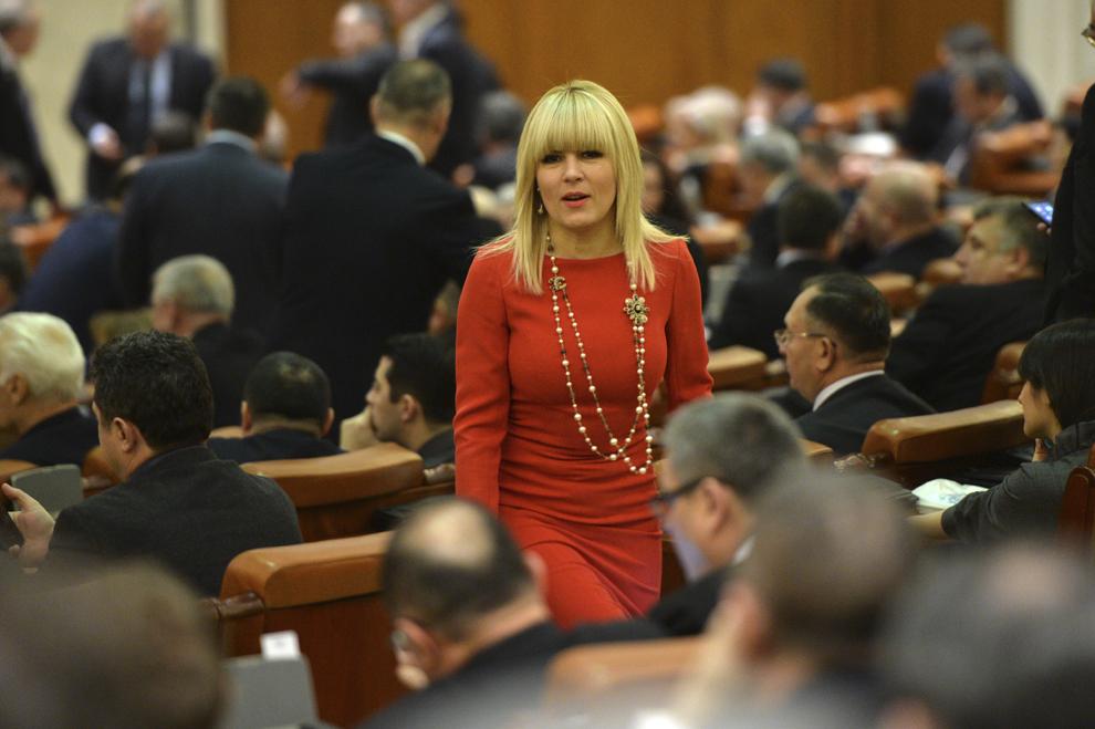 Elena Udrea asista la depunerea juramântului de învestitura în functia de presedinte al României de catre Klaus Iohannis, în sedinta solemna comuna a Senatului si Camerei Deputatilor, la Parlament, in Bucuresti, duminica, 21 decembrie 2014.