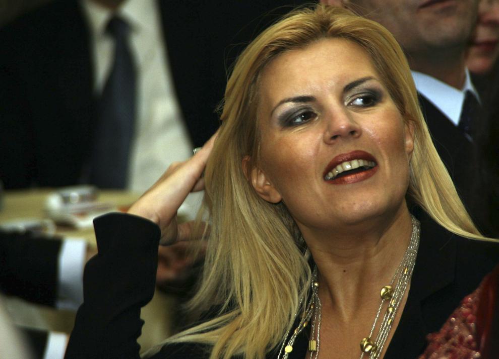 Elena Udrea efectueaza alaturi de presedintele Traian Basescu (nu este prezent in fotografie) o vizita, la Iasi, miercuri, 23 ianuarie 2008. Traian Basescu va participa maine la festivitatile din Piata Unirii, organizate cu ocazia zilei de 24 ianuarie.