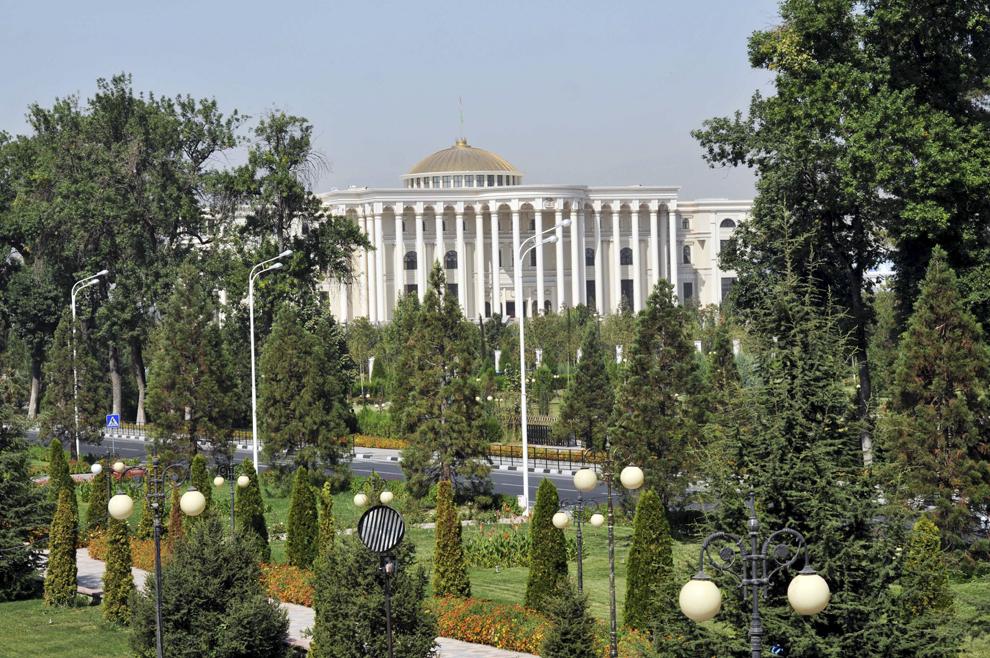 Reşedinţa Preşedintelui Republicii Tadjikistan, Emomalii Rahmon, în Dushanbe, septembrie 2013.