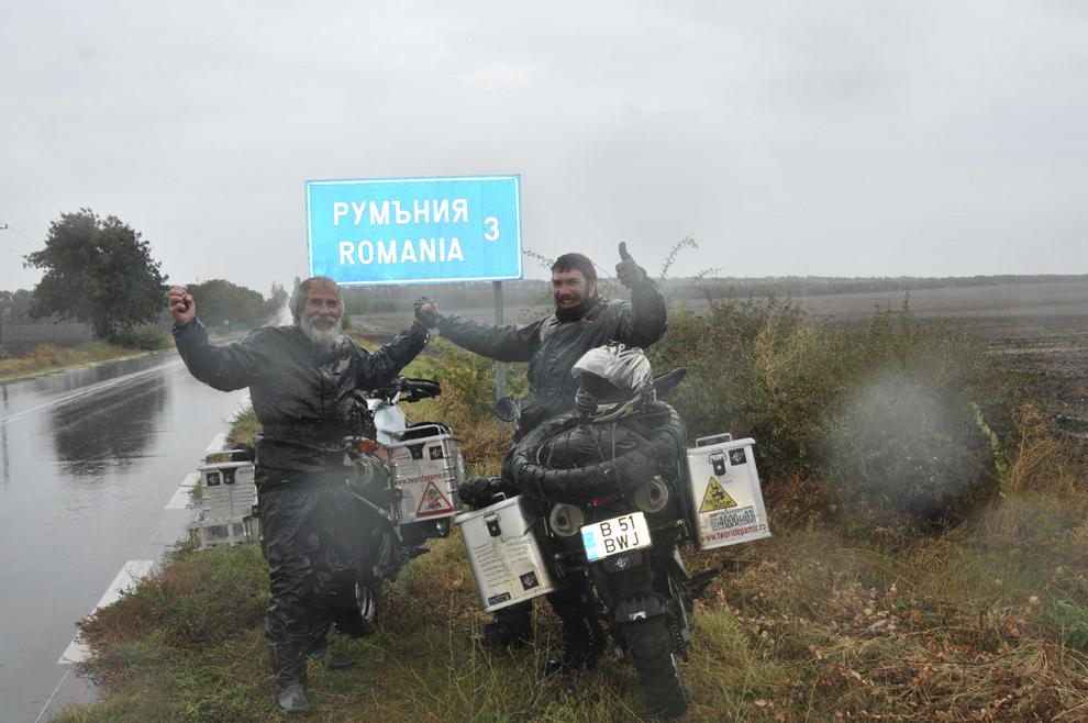 Indicator ce arată apropierea de graniţa cu România, în Bulgaria, septembrie 2013.