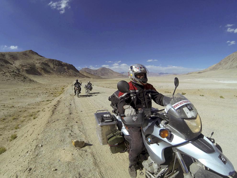 Pe Autostrada Pamir, între Murghab şi Langar, în Tadjikistan, septembrie 2013.