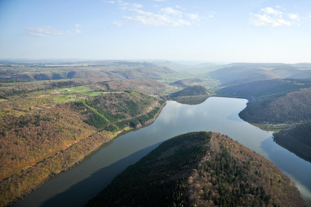 Barajul Zetea, vedere spre Odorheiu-Secuiesc.