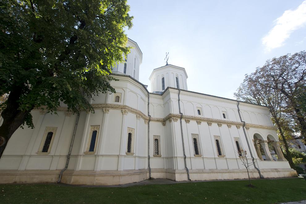 Curtea interioară a Palatului Cotroceni, miercuri, 24 septembrie 2014.