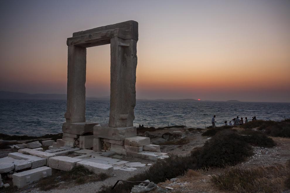 Portata (Intrarea în Templul lui Apollo), insula Naxos.