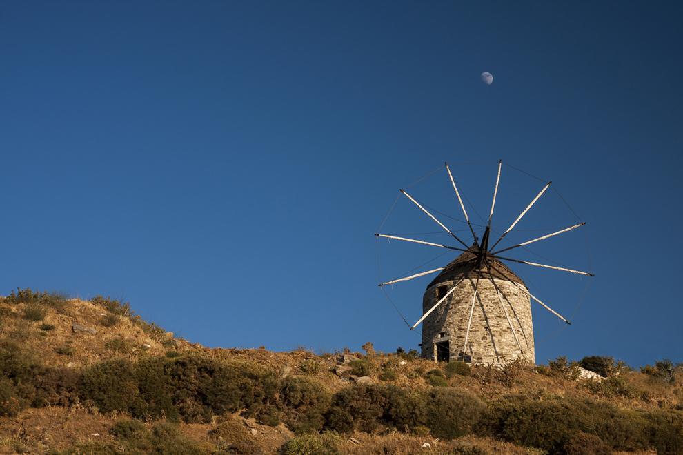 Moară de vânt pe Insula Naxos.