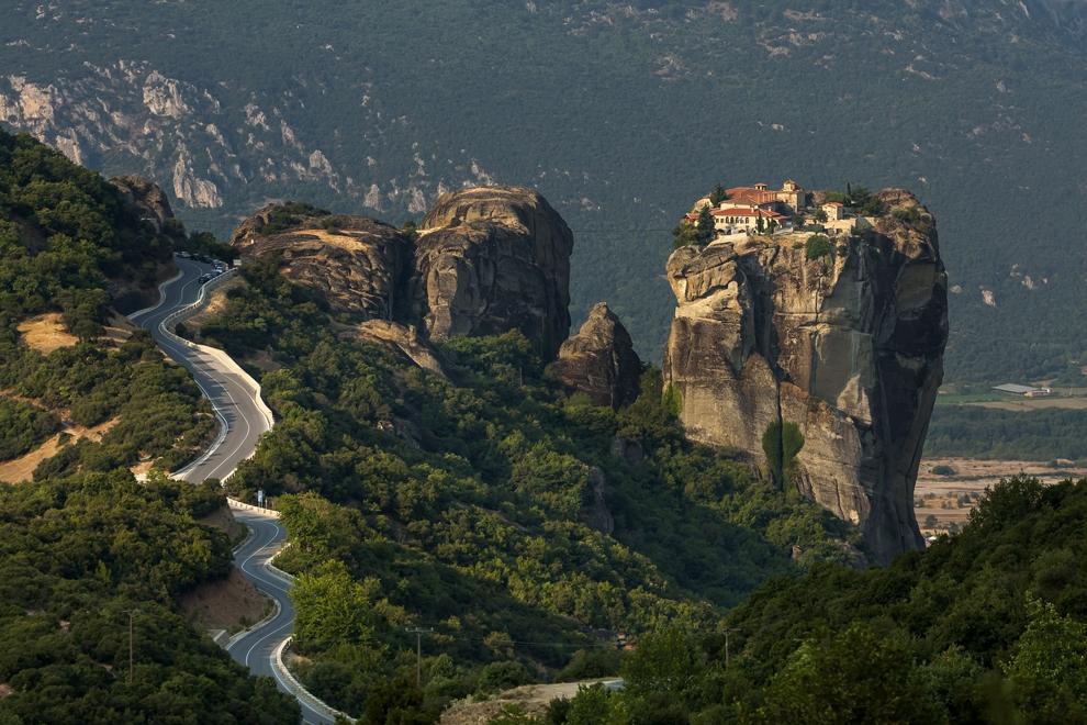 Mânăstirea Agios Stefanos din cadrul Complexului de mânăstiri Meteora.