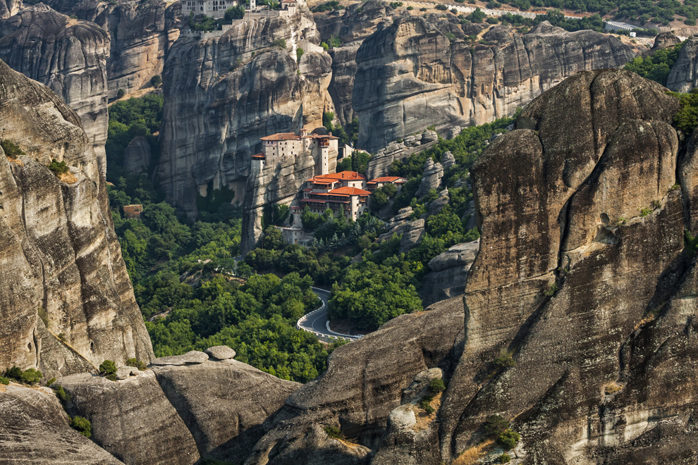 Mânăstirea Roussanou din cadrul Complexului de mânăstiri Meteora.