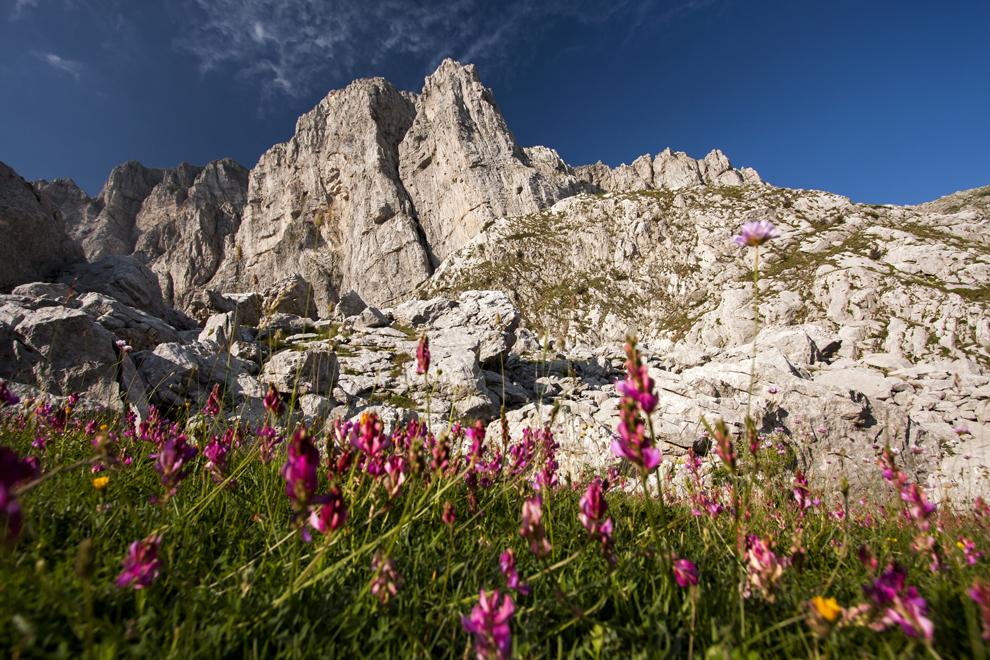 Peisaj montan din masivul Tymfi, Munţii Pindului.
