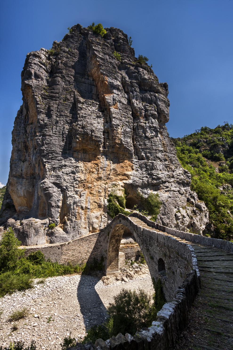 Podul de piatră Kokoris, construit în anul 1750, regiunea Zagoria.